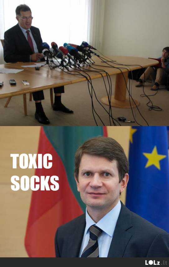 Toxic socks sacked