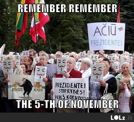 I know of no reason why the gunpowder treason should ever be forgot
